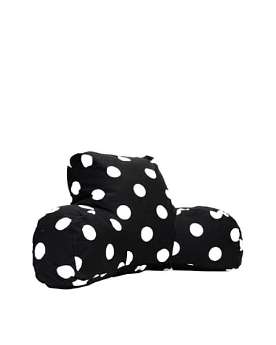 Majestic Home Goods Large Polka Dot Reading Pillow, Black As You See