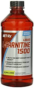 MET-Rx L-Carnitine Diet Supplement, Lemon, 16 Fluid Ounce