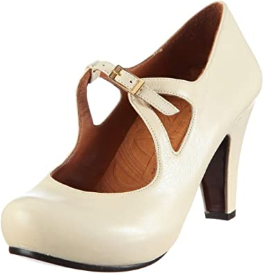 Chie Mihara CARLITA 78094, Damen Sandalen/Brautschuhe Fashion-Sandalen, Elfenbein (LECHE), EU 41