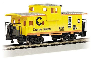 Imagen de Bachmann Trains Chessie 36 'Wide Vision Caboose-Ho Escala