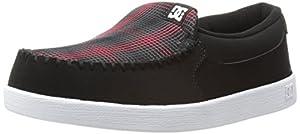 DC Men's Villain Skate Shoe,Black/Red/White,8.5 M US
