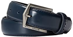 Stacy Adams Men's 30mm Pinseal Leather Belt With Pinhold Design, Blue, 40