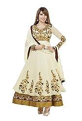 Adah Georgette Dress Material (White) - 569-4004
