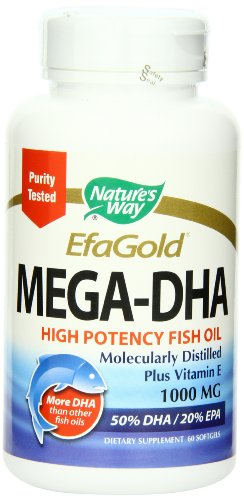 Nature's Way Mega-DHA, 1000mg, 60 Softgels