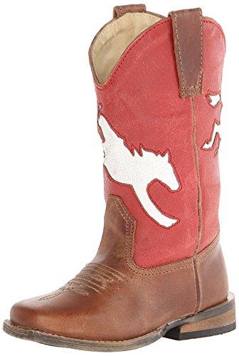 Bronc Rider Square Toe Cowboy Boot