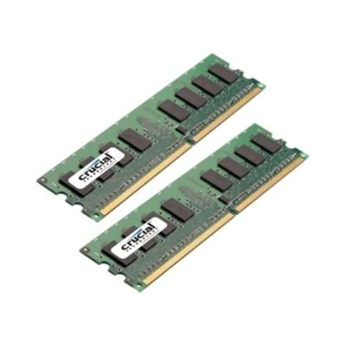Crucial 2GB Kit (2 x 1GB) DDR2 PC2-4200 UNBUFFERED NON-ECC 240-PIN DIMM