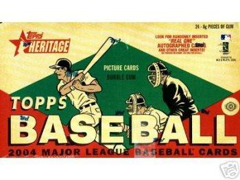 2004 Topps Heritage Baseball Cards Hobby Box