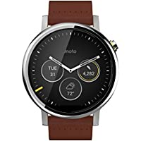 Motorola Moto 360 2nd Gen for Men 46mm Leather Watches