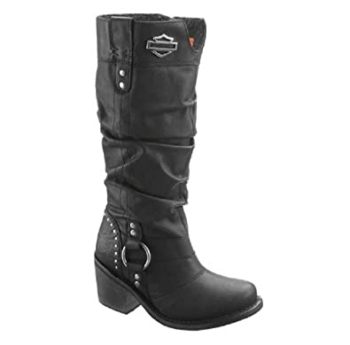Harley-Davidson Womens Jana Black Leather High Cut Boot (6)