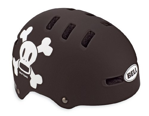 Bell Fraction Youth Bicycle Helmet, Matte Black/White Paul Frank Skull, X-Small Color: Matte Black/White Paul Frank Skull Size: X-Small Toy, Kids, Play, Children front-695871