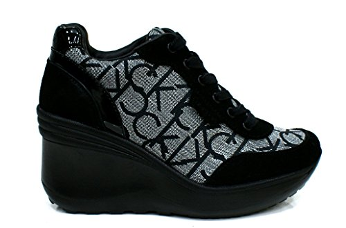 Calvin Klein Jeans RE9648 Sneakers Scarpe Donna Casual Sportive Zeppa (37)
