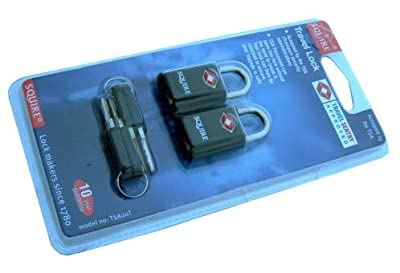 Pack of 2 keyed alike squire suitcase luggage locks. from Squire