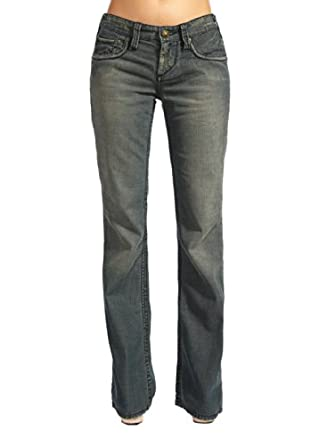 Stitch's Womens Flared Jeans Distressed Denim Sexy Trouser 25