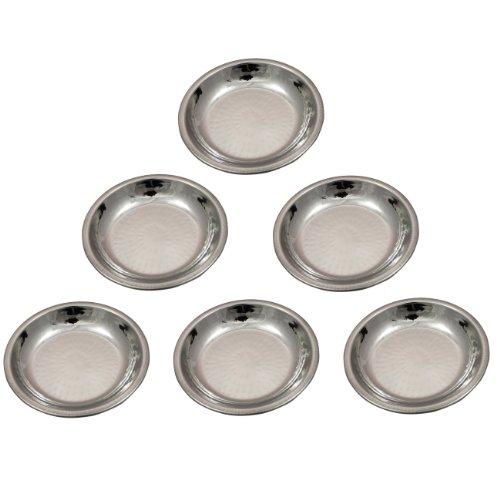 Copper Dinnerware Accessories Stainless Steel Sweet Dish Bowl, Set Of 6, Diameter 12 Cm