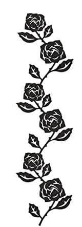 Black Metal Rose Wall Hanger for Photos and Accessories, Modern Home Decor