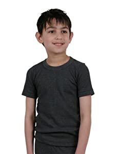 Boys Thermal Underwear Short Sleeve Vest Charcoal 3/5 Yrs