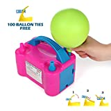 Party Zealot Electric Balloon Inflator Air Pump Massive Balloons Blower US Standard Plug for Balloon Arch, Balloon Column Stand, and Balloon Decoration (Color: Pink)
