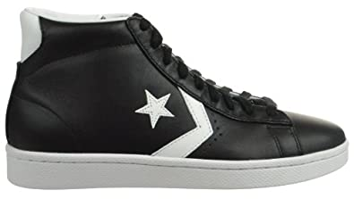 Converse Pro Leather Mid Mens Fashion Sneakers Black/White Black/White 136522c-13