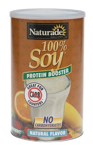 Naturade Booster 100% de protéines de soja, arôme naturel, 29,6 onces
