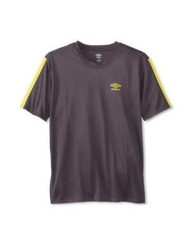 Umbro Men's Flat Back Mesh with Pieced Stripe Shirt
