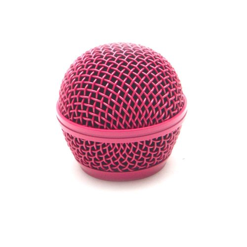 Seismic Audio - Sa-M30Grille-Pink - Replacement Pink Steel Mesh Microphone Grill Head - Compatible With Sa-M30, Shure Sm58, Shure Sv100 And Similar