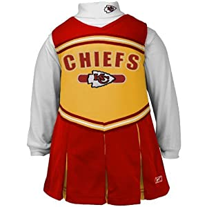 Reebok Kansas City Chiefs Girls (4-6X) Cheer Jumper by Reebok