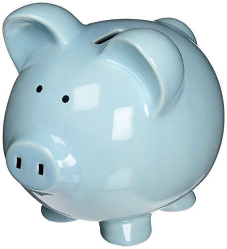 Child to Cherish Large Piggy Bank, Blue