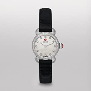 Michele Watches, Women's Csx26 Pav Diamond, Diamond Dial Black Grosgrain