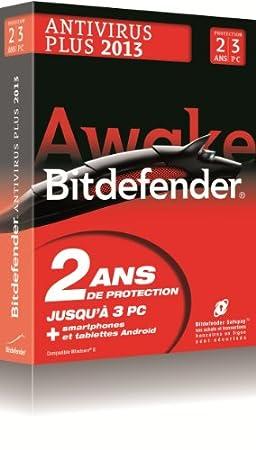 Bitdefender Antivirus Plus 2013 (2 ans, 3 postes)