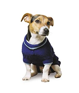 Ancol Cable Knit Dog Sweater, M, Blue