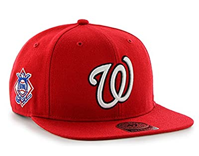 47 Brand Washington Nationals Sure Shot Mens Snapback Hat B-SRS15WBP-RD