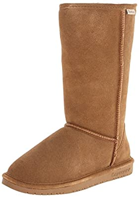 Bearpaw Bearpaw Womens Emma Tall 12-Inch Suede Sheepskin Boot, Hickory Ii, Us 5
