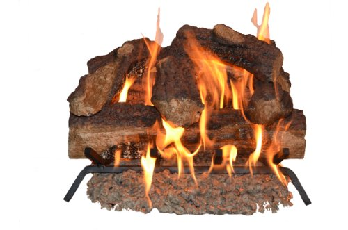 Sure Heat Mountain Oak Vented Dual Burner Log Set for Natural Gas Fireplace, 18-Inch (Gas Fire Logs For Fireplace compare prices)