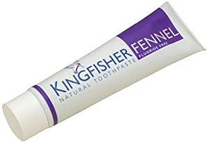 Kingfisher 100 ml Flouride Free Fennel Toothpaste - 3-Pack