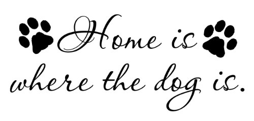 Home Is Where The Dog Is Vinyl Wall Decal Quote Picture