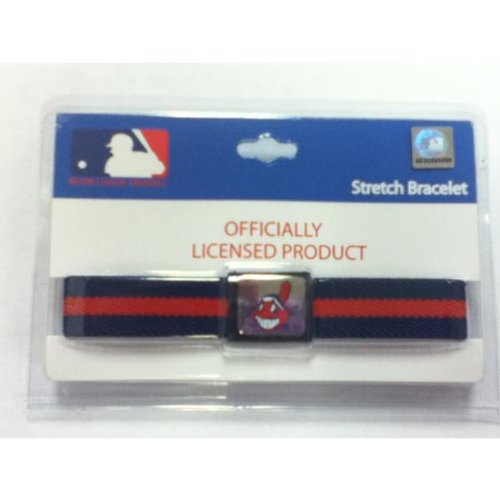 Cleveland Indians Stretch Bracelet - Case Pack 12 SKU-PAS915250
