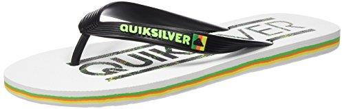 Quiksilver Uomo Molokai Wordmark sandali multicolore Size: 39