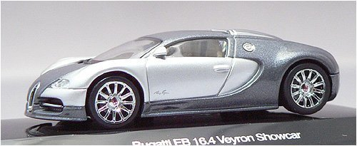 AUTOart 1:64 (approx 3 inches) Die Cast Bugatti EB 16.4 Veyron Genf 2003 Silver 20902 (japan import)