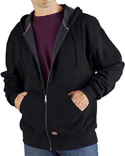 Dickies Men's Thermal Lined Zip Hooded Fleece Jacket, Black, Extra Large (Dickies Thermal Hoodie compare prices)