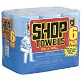 6PK BLU Shop Towel