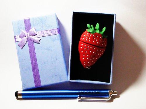 Strawberry Keychain 4GB USB Flash Drive - in