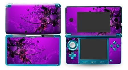 Bundle Monster Nintendo 3ds Vinyl Skin Cover Art Decal Sticker Protector Accessories - Purple Mist