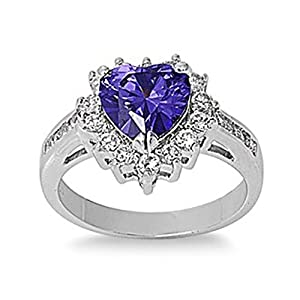 sterling silver promise ring with purple blue