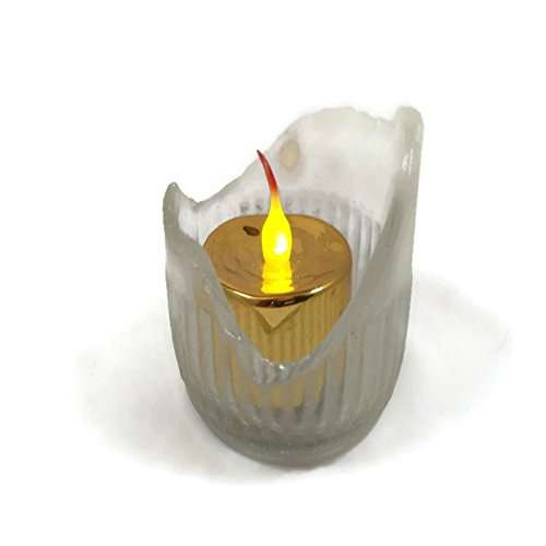 sea-glass-candle-holder-embossed-beach-glass-eco-friendly-decor-lake-house-decor-bohemian-home-decor