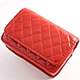 IK008 Red faux leather case pouch skin bag for Samsung ES75 ES30 PL201 PL210