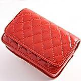 IK008 Red faux leather case pouch skin bag for Samsung ES75 ES30 PL201 PL210