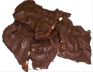 Scott's Cakes Dark Chocolate Pretzel Bark in a 8 oz. Christmas Plaid Box