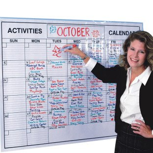 Laminated Jumbo Wall Calendar (Marker Board Calendar compare prices)
