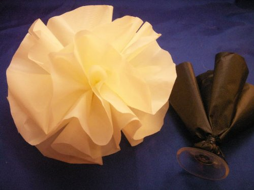 24 Ivory Car Limousine Wedding Decoration Pom Pom Flower Deco-puff