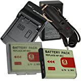 NEW Charger + 2 Battery + Car Plug for Sony NP-BG1 CyberShot DSC-H3 DSC-H7  ....